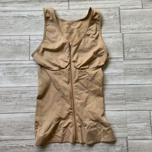 Nude Moderate Compression Zip-Up Cami
